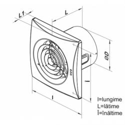 Ventilator diam 100mm cu timer si senzor de prezenta - Ventilatie casnica silentioase