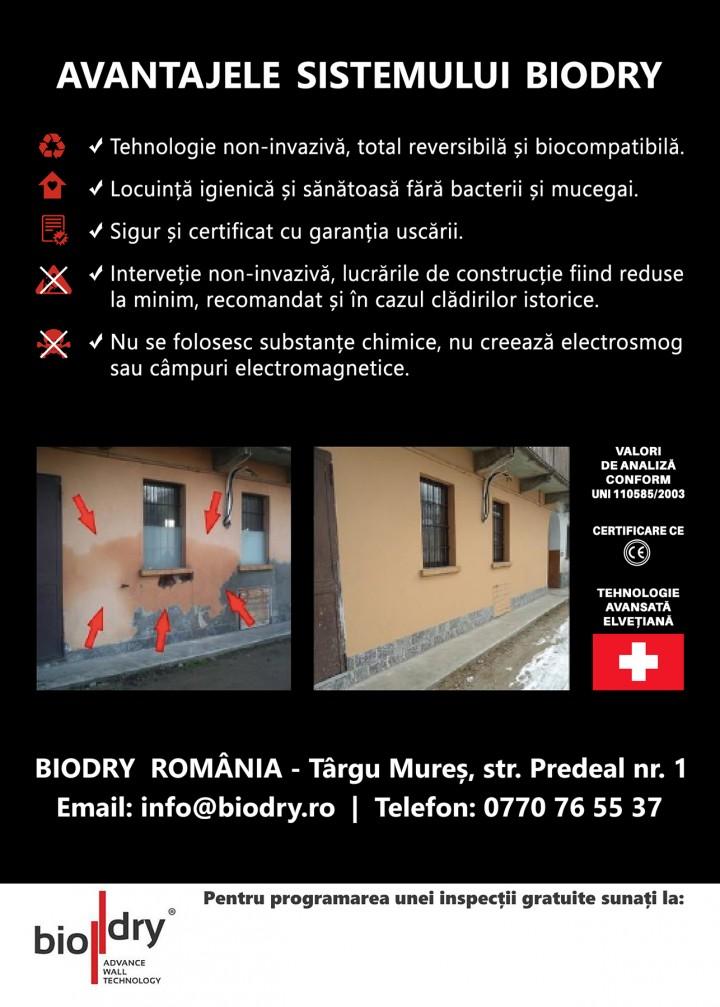 Avantajele sistemului BioDry - Avantajele sistemului BioDry