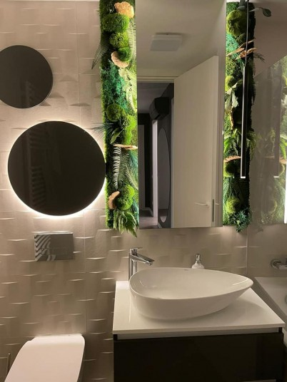 Panouri verzi in baie - Proiecte URBANATURE