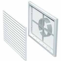 Grila PVC rectangulara 300*220mm cu plasa si stut reglabil 100-150mm - Accesorii ventilatie grile pvc si metalice