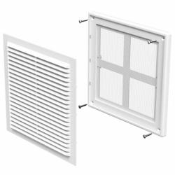 Grila dreptunghiulara 204*204mm - Accesorii ventilatie grile pvc si metalice