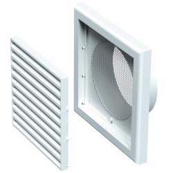 Grila dreptunghiulara cu manson diam 100 mm, 154*154mm - Accesorii ventilatie grile pvc si metalice