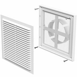 Grila dreptunghiulara 204*204mm diam 100-150mm - Accesorii ventilatie grile pvc si metalice