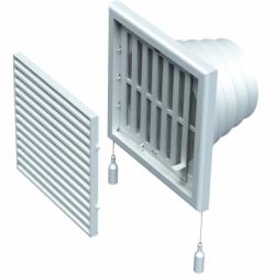 Grila 187*187mm, racord 100-110-120-130 mm - Accesorii ventilatie grile pvc si metalice