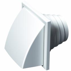 Grila cu aparatoare ploaie, diam 100-110-120-130mm - Accesorii ventilatie grile pvc si metalice