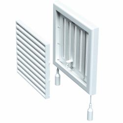 Grila cu reglaj manual 187*187mm - Accesorii ventilatie grile pvc si metalice