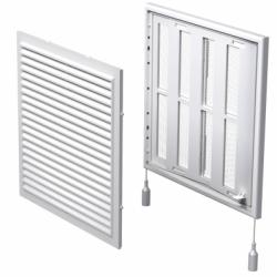 Grila ventilatie cu jaluzele actionate mecanic, 250*250mm - Accesorii ventilatie grile pvc si metalice