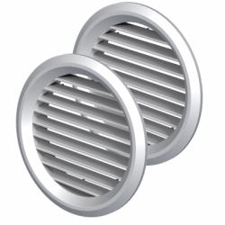 Set 2 grile usa diam 50mm, ABS - Accesorii ventilatie grile pvc si metalice
