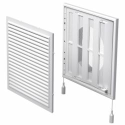 Grila ventilatie cu jaluzele actionate mecanic, diam 150mm - Accesorii ventilatie grile pvc si metalice