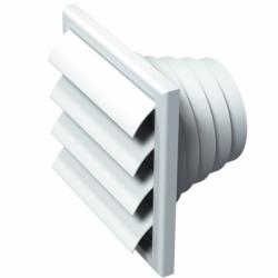 Grila cu jaluzele gravitationale diam 80-100-110-120-150 mm - Accesorii ventilatie grile pvc si metalice