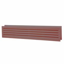 Grila ventilatie pentru usa 80*429mm maro - Accesorii ventilatie grile pvc si metalice