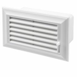 grila canal plat 110x55 cu jaluzele reglaj - Accesorii ventilatie grile pvc si metalice