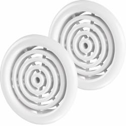 Set 2 grile usa diam 50mm, ABS - cercuri concentrice - Accesorii ventilatie grile pvc si metalice