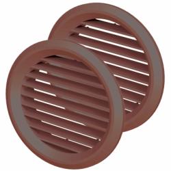 Set 2 grile usa diam 50mm, maro - Accesorii ventilatie grile pvc si metalice
