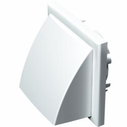 Grila PVC alba,antiploaie,clapeta si plasa antiinsecte,154*1547mm, racord diam 100/125/110*55mm - Accesorii ventilatie grile pvc si metalice