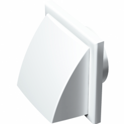 Grila PVC alba,antiploaie, clapeta, 187*187mm, racord diam 125/110*55mm - Accesorii ventilatie grile pvc si metalice