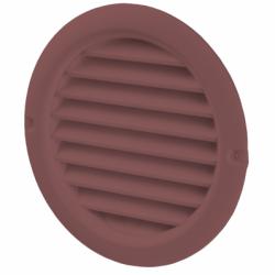 Grila PVC maro, plasa antiinsecte, diam 100mm - Accesorii ventilatie grile pvc si metalice