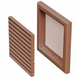 Grila ventilatie 154*154mm maro - Accesorii ventilatie grile pvc si metalice