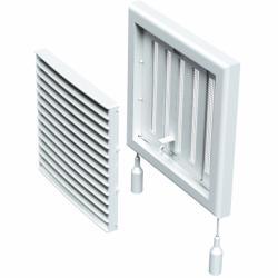 Grila cu inchidere manuala 154*154mm - Accesorii ventilatie grile pvc si metalice