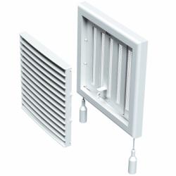 Grila cu inchidere manuala 187*187mm - Accesorii ventilatie grile pvc si metalice