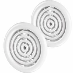 Set 2 grile usa diam 50mm, ABS - cercuri concentrice cu plasa - Accesorii ventilatie grile pvc si metalice