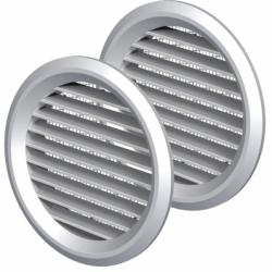 Set 2 grile usa diam 80mm, ABS cu plasa - Accesorii ventilatie grile pvc si metalice