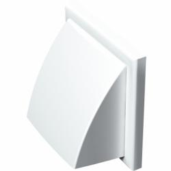 Grila PVC alba,antiploaie, clapeta, 187*187mm - Accesorii ventilatie grile pvc si metalice