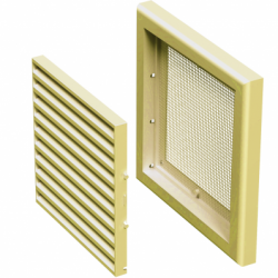 Grila ventilatie 154*154mm, bej - Accesorii ventilatie grile pvc si metalice