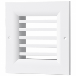 Grila aluminiu cu lamele fixe 0grade  500*300 - Accesorii ventilatie grile pvc si metalice