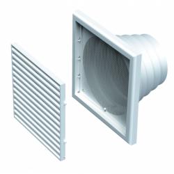 Grila 187*187mm cu racord 80-100-110-120-150mm - Accesorii ventilatie grile pvc si metalice