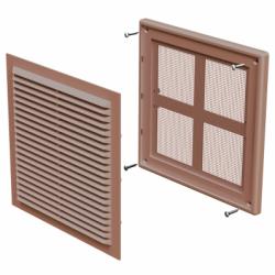 Grila dreptunghiulara 204*204mm maro - Accesorii ventilatie grile pvc si metalice