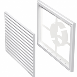Grila PVC rectangulara cu stut reglabil 100-150, dimensiuni 300*220mm - Accesorii ventilatie grile pvc si metalice