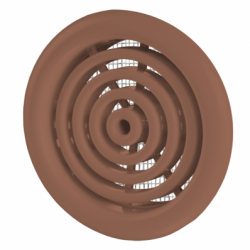 Set 2 grile usa diam 50mm maro - Accesorii ventilatie grile pvc si metalice