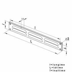 Grila ventilatie mecanica 370*40mm cu tabla zincata - Accesorii ventilatie grile pvc si metalice
