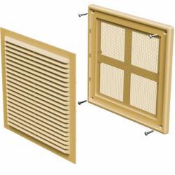 Grila ventilatie 204*204 mm bej - Accesorii ventilatie grile pvc si metalice