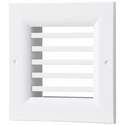 Grila aluminiu cu lamele fixe 0grade  450*300mm - Accesorii ventilatie grile pvc si metalice