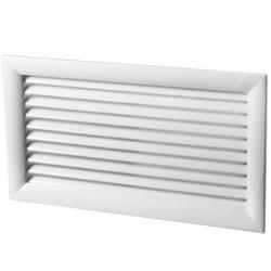Grila ventilatie aluminiu lamele 45gr, 200*400mm - Accesorii ventilatie grile pvc si metalice