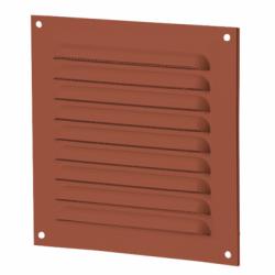 Grila metalica 100*100mm cu plasa antiinsecte maro - Accesorii ventilatie grile pvc si metalice