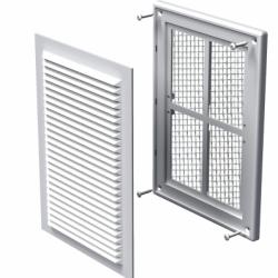 Grila aluminiu alba 125*125mm - Accesorii ventilatie grile pvc si metalice