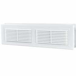 Grila dubla ventilatie usa MV 380/2 - Accesorii ventilatie grile pvc si metalice