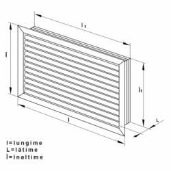 Grila plastic liniara 400*300mm - Accesorii ventilatie grile pvc si metalice