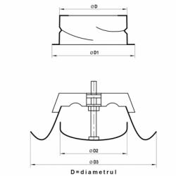 Anemostat metalic cu flansa diam 125mm - Accesorii ventilatie grile pvc si metalice