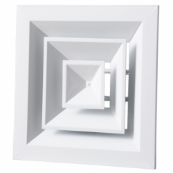 Anemostat aluminiu 260*260mm - Accesorii ventilatie grile pvc si metalice