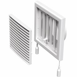 Grila ventilatie cu inchidere manuala diam 100mm, cu plasa - Accesorii ventilatie grile pvc si metalice