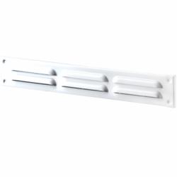 Grila ventilatie mecanica 370*40mm, cu 3 fante - Accesorii ventilatie grile pvc si metalice