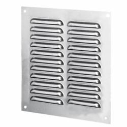Grila otel 250*300mm, cu plasa antiinsecte, argintiu - Accesorii ventilatie grile pvc si metalice