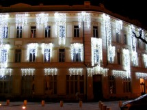 Turturi luminosi (detaliu), Primaria Sibiu - 2007-2008 - Executie sisteme de iluminare