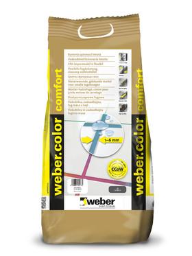 Chit impermeabil si flexibil pentru rosturi 1-6 mm - weber.color comfort - Chit pentru rosturi