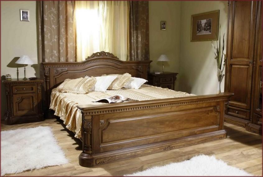 Pat Cristina 1600 mm - Mobila de dormitor din lemn masiv: standard sau la comanda?