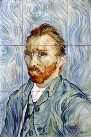 Autoportret Van Gogh - Faianta pictata pentru living